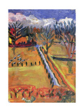 Blue Road, Hereford, 1998 Giclee Print by Robert Hobhouse