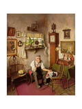 'He's Worth Framing', C.1943 Giclee Print by Charles Spencelayh