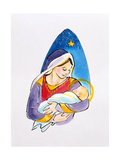 Madonna and Child, 1996 Giclee Print by Diane Matthes