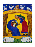 The Nativity Giclee Print by Cathy Baxter