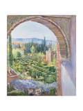 Alhambra Gardens Giclee Print by Timothy Easton