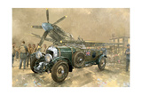 Bentley und Spitfire Giclée-Druck von Peter Miller