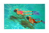 Snorkellers Giclee Print by William Ireland