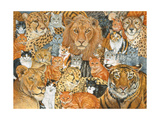 Semi Wild Cat Spread Giclee Print by  Ditz