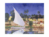 Egypt Blue Giclee Print by Clive Metcalfe