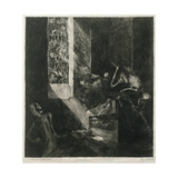 Apparition at Midnight, 1888 Giclee Print by Albert Welti