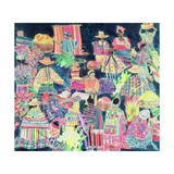 Guatemalan Market (Mixed Region) Giclee Print by Hilary Simon