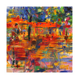 Falling Leaves, Paris Giclee Print by Peter Graham