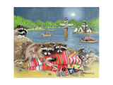 Racoons, 2000 Giclee Print by E.B. Watts