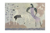 Antelope and Figure in a Landscape, 1936 Giclee Print by John Armstrong