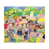 Almolonga Market Giclee Print by Hilary Simon