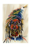 Am I an Aborigin 1, 2008 Giclee Print by Oglafa Ebitari Perrin