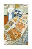 Marche De Poissons, Biarritz, 2001 Giclee Print by Delphine D. Garcia