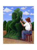 Topiary Kiss Giclee Print by Larry Smart