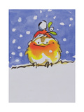 Christmas Robin Giclee Print by Diane Matthes