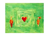 Love Maze, 2004 Gicléetryck av Julie Nicholls