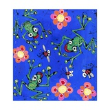 Frog Wallpaper, 2008 Giclee Print by Anthony Breslin