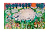 Sheep Giclee Print by Brenda Brin Booker