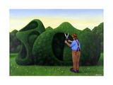 Moore Topiary Giclee Print by Larry Smart
