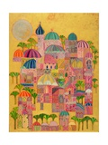 The Golden City, 1993-94 Giclée-tryk af Laila Shawa