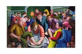 Jesus Washes Disciples' Feet, 1995-96 Giclee Print by Dinah Roe Kendall
