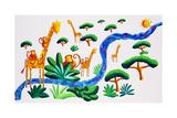 Jungle River 2, 2002 Giclee Print by Julie Nicholls