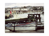 The Red Sail, Caernarfon Giclee Print by Jane Carpanini
