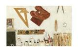 L'Atelier, Mur Ouest, Etude, 2004 Giclee Print by Delphine D. Garcia