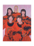 Oregon State Cheerleaders, 2002 Giclee Print by Joe Heaps Nelson