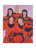 Oregon State Cheerleaders, 2002 Giclee Print by Joe Heaps Nelson