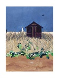 Walberswick Hut and Southwold Lighthouse, Suffolk Giclee Print by Christine McKechnie