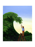 Topiary Wave Giclee Print by Larry Smart
