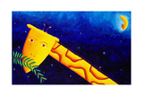 Giraffe at Night, 2002 Giclee Print by Julie Nicholls