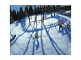Winding Trail, Morzine Giclee Print by Andrew Macara