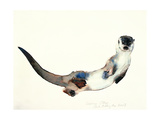 Curious Otter, 2003 Giclee Print by Mark Adlington