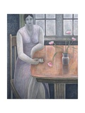 Woman with Small Cup, 2007 Giclee Print by Ruth Addinall