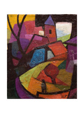 Townscape, Badacsony Hillside Giclee Print by Emil Parrag