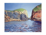 Land and Sea No. I, Ramsey Island Giclee Print by Anna Teasdale