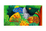Jungle Scene, 2002 Giclee Print by Julie Nicholls