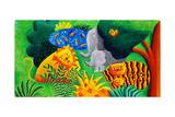 Jungle Scene, 2002 Giclee Print by Julie Nicholls