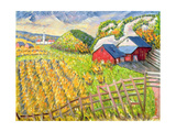 Wheat Harvest, Kamouraska, Quebec Giclee Print by Patricia Eyre