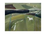 Eric Hains - White Horse, Cherhill Digitálně vytištěná reprodukce