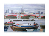 Busy Scene at Blackfriars, 2005 Giclee Print by Terry Scales