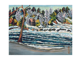 Winter Thaw, Gatineau River Giclee Print by Patricia Eyre