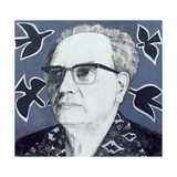 Portrait of Olivier Messiaen, Illustration for 'The Sunday Times', 1970s Giclee Print by Barry Fantoni