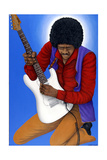 Jimi Hendrix (1942-70) Giclee Print by Larry Smart