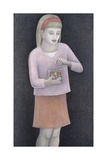 Young Girl with Sweets, 2007 Giclee Print by Ruth Addinall
