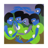 Gathering 1, 1980 Giclee Print by Ron Waddams