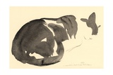 Sleeping Cat, 1984 Giclee Print by Claudia Hutchins-Puechavy