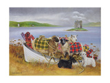 Sheep with Tartan, 1999 Giclee Print by E.B. Watts